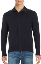 Nautica Multi-Textured Long Sleeve Cardigan