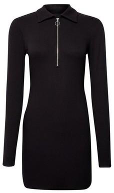 Dorothy Perkins Womens Lola Skye Black Zip Bodycon Dress, Black