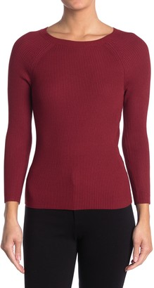 Joe's Jeans Crew Neck Raglan Sleeve Ribbed Sweater