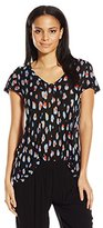 Kensie Women's Watercolor Spots Top