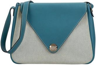 One Kings Lane Vintage Hermes Blue Jean Toile Bag - Vintage Lux