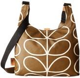 Orla Kiely Matt Laminated Giant Linear Stem Print Midi Sling Bag