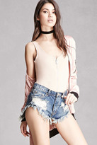 Forever 21 FOREVER 21+ Pixie & Diamond Denim Shorts