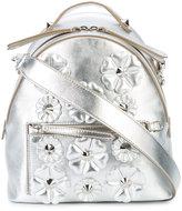 Fendi floral embroidered shoulder bag - women - Leather - One Size