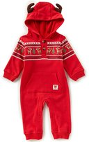 Baby Starters Baby Boys 3-12 Months Christmas Reindeer Coverall Pajamas