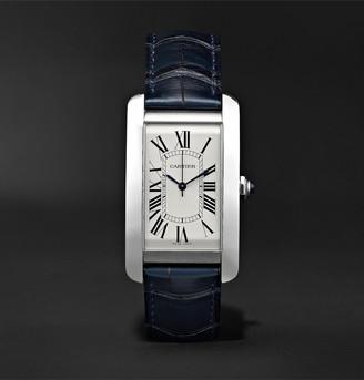 Cartier Tank Americaine Automatic 45mm Steel And Alligator Watch, Ref. No. Crwsta0018
