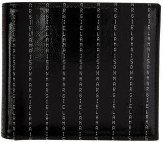 Maison Margiela Black Logo Pinstripe Bifold Wallet