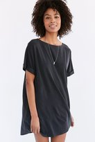 Silence & Noise Silence + Noise Cupro Boat-Neck T-Shirt Dress