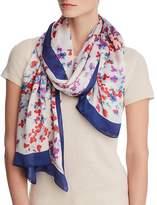 Emporio Armani Floral Print Mulberry Silk Scarf