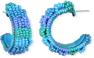 Suzanna Dai Guadalajara Beaded Mini Hoop Earrings