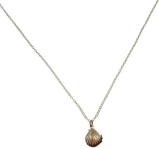 Clara Lifestyle Golden Shell Of Light Necklace