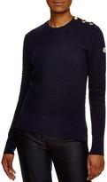 Moncler Maglione Tricot Girocollo Button-Shoulder Sweater