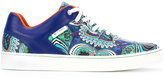 Etro printed low top sneakers - men - Leather/Polyamide/rubber - 40
