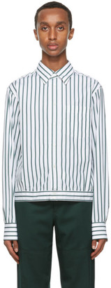 Lanvin White and Blue Stripe Shirt