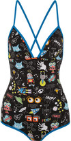 Fendi Printed Swimsuit - Bright blue