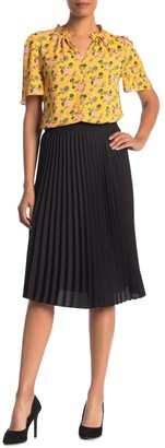 T Tahari Woven Pleated Skirt