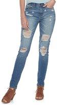 Mudd Juniors' Splatter Ripped Skinny Jeans