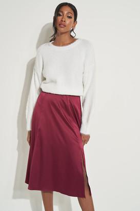 Ardene Microfiber Midi Skirt