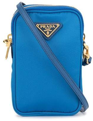 Prada Pre-Owned mini triangular logo plaque crossbody bag