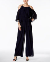 Vince Camuto Cold Shoulder Chiffon Jumpsuit