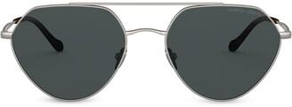Giorgio Armani Geometric Aviator Sunglasses