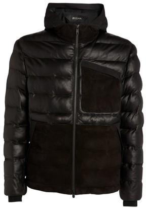 Ermenegildo Zegna Suede-Panel Puffer Jacket