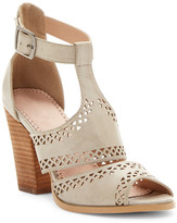 Restricted Wait Up Laser-Cut High Heel Sandal