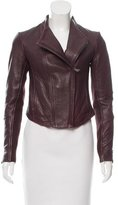 Vince Wool-Accented Leather Jacket