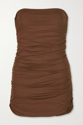 Marysia Swim Avalon Strapless Ruched Swimsuit - Brown