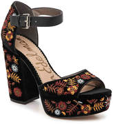 Sam Edelman Women's Marsha Velvet Platform Sandal
