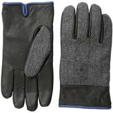 Original Penguin Woven Herringbone/Leather Glove