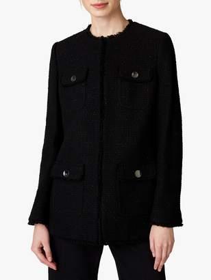 Jaeger Long Tweed Jacket, Black
