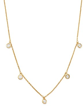 Bloomingdale's Diamond Bezel Set Station Necklace in 14K Yellow Gold, 0.50 ct. t.w. - 100% Exclusive