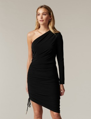 Forever New Anabeth One-Shoulder Midi Dress - Black - 10