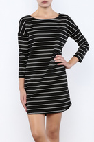 BB Dakota Black Striped Dress