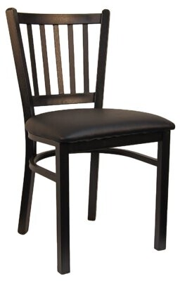 H&D Restaurant Supply, Inc. Vertical Upholstered Dining Chair (Set of 2 Upholstery Color: Black