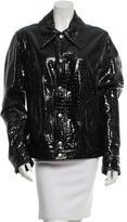 Dolce & Gabbana Embossed Leather Jacket