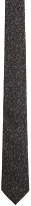 Ermenegildo Zegna Black Asymmetric Stripe Tie