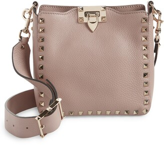 Valentino Mini Rockstud Hobo Crossbody Bag