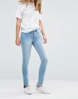 Vila Raw Stepped Hem Skinny Jeans