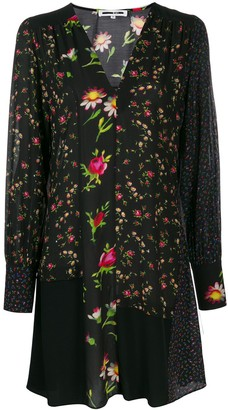 McQ Swallow Panelled Floral Dress