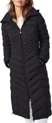Bernardo Ecoplume Hooded Long Puffer Coat