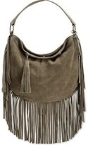 Lucky Brand Rickey Hobo Suede Convertible Cross Body