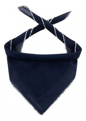 Givenchy Navy Cotton Scarves & pocket squares