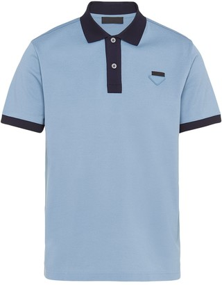 Prada Two-Tone Polo Shirt