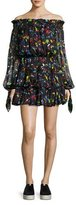 Caroline Constas Lou Off-the-Shoulder Printed Chiffon Dress, Multi