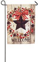 """Evergreen Welcome"""" Star Indoor / Outdoor Garden Flag"""