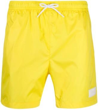 Dondup Logo Patch Swim Shorts