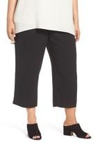 Eileen Fisher Plus Size Women's Silk Georgette Crop Pants