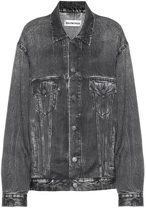 Balenciaga Trompe L'Oeil printed satin jacket